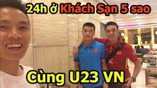 Thử Thách Bóng Đá 24h ở cùng Bùi Tiến Dũng , Quang Hải U23 Việt Nam tại khách sạn Asiad 2018