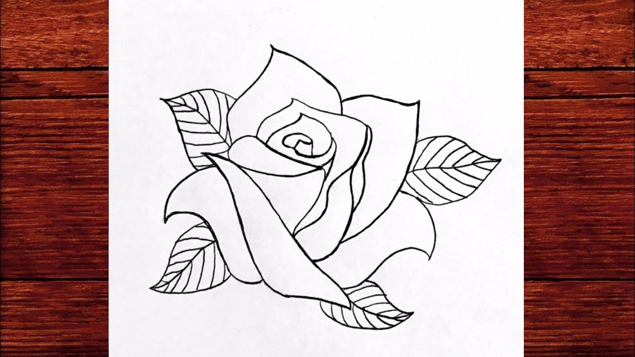 Yeni Başlayanlar İçin Kolay Gül Çizimi - Yeni Karakalem Çizimleri Öğreniyoruz ( Çizim Mektebi )