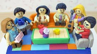Friends Lego Cake Tutorial - How to make a Lego Cake - Friends Theme Cake