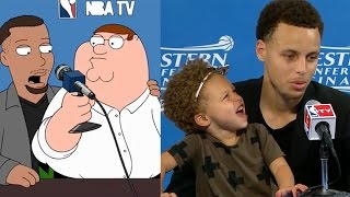 Steph Curry Stars on Family Guy, Recreates HILARIOUS Riley Curry Press Conference with Peter Griffin