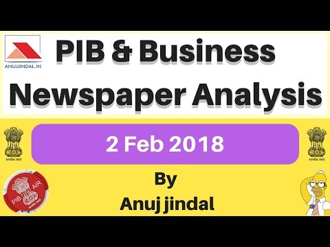 Indian Union budget 2018 - 19 Analysis | PIB | Business News For 2 Feb | Union Budget of 2018 India