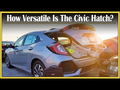 2017 - 2020 Honda Civic Hatchback | Cargo Capacity Review | How Much Stuff Can Fit In That Trunk?