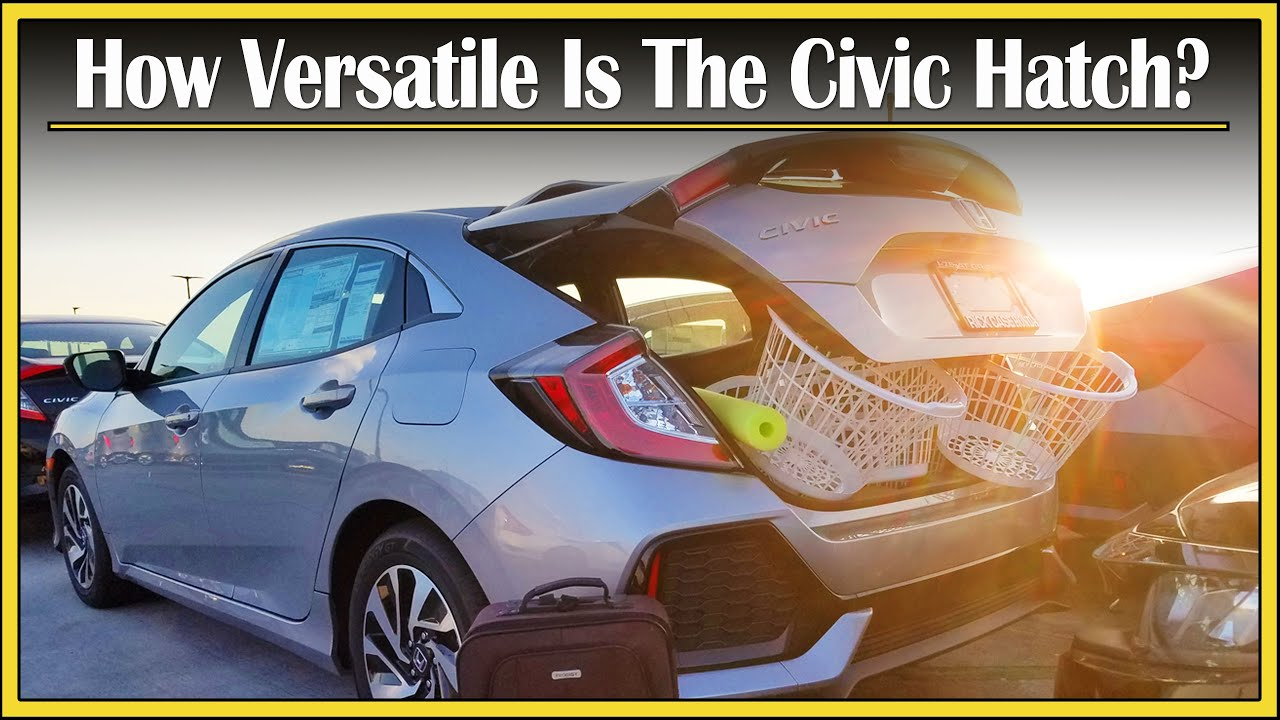 2017 2018 honda civic hatchback cargo capacity review how much stuff can fit in that trunk. Black Bedroom Furniture Sets. Home Design Ideas