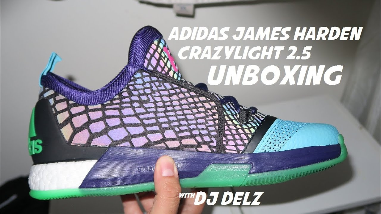 best sneakers fd921 0f5f7 Unboxing adidas Crazylight 2.5 James Harden Allstar Xeno Sneaker With Dj  Delz adidashoops