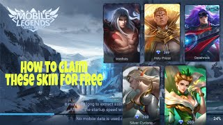 How to claim Skin Free in mobile legend#Pro Hour Gaming