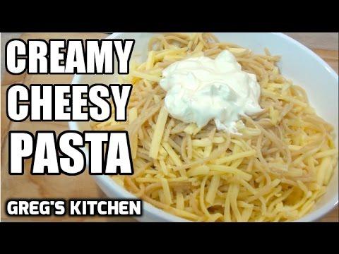 CHEESY SOUR CREAM PASTA RECIPE - Greg's Kitchen