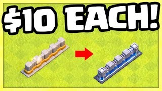 74 Level 13 Walls! Clash of Clans Update - FARMING?