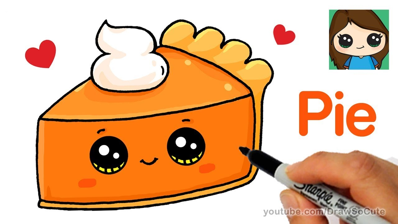 How To Draw A Slice Of Pie Cute And Easy Youtube