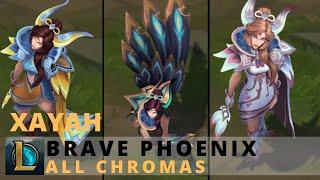 Brave Phoenix Xayah All Chromas - League of Legends