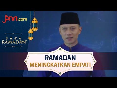 AHY: Ramadan Momen Meningkatkan Empati Kepada Sesama