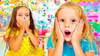 나스티아와 그녀의 친구들은 집에서 즐거운 파티를하고요!아이들을위한 활동