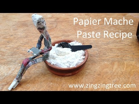 How To Make Your Own Papier Mache Paste Using Flour And Water