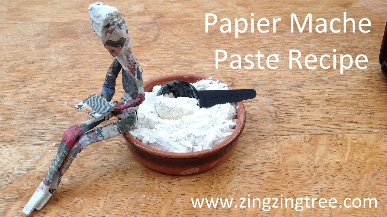 how to make your own papier mache paste using flour and