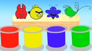 Learn Colors With Animals  Colors For Kids || Colors Nursery Rhymes Collection