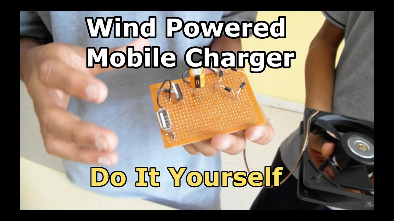mobile charger using wind energy
