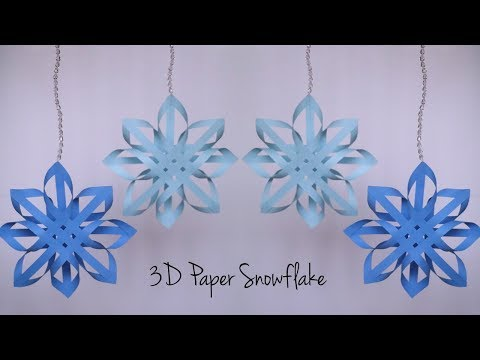 How to Make Paper Snowflakes | Easy Snowflake pattern | DIY Christmas Decorations