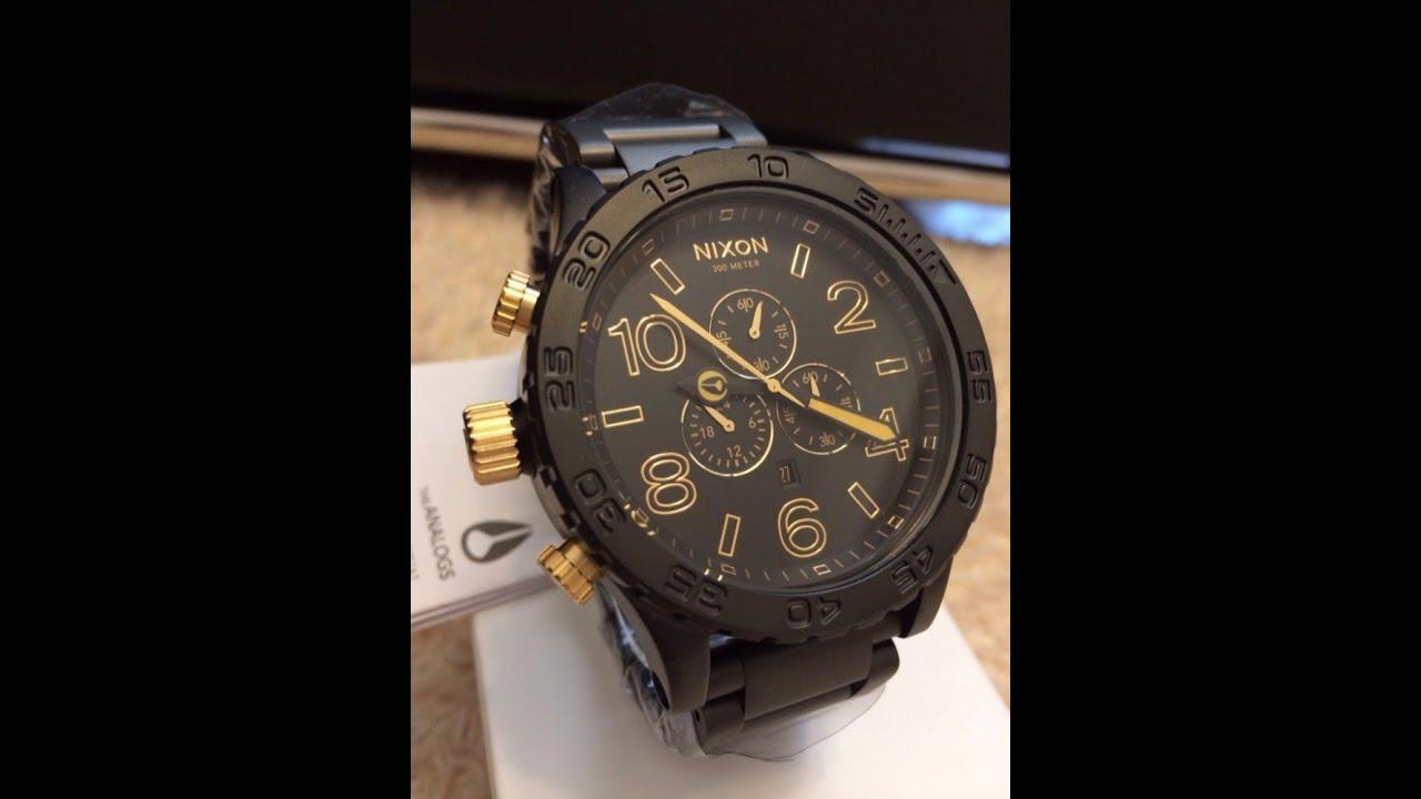 bb27d079f5b ... Preto Compre Agora Dafiti Brasil. Relógio Nixon 51 30 Tide. RELÓGIO  NIXON 51 30 CHRONO MATTE BLACK GOLD YouTube
