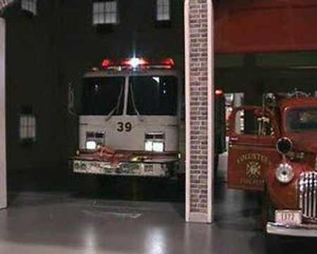 Scale Model Fire Truck Turn Out Youtube