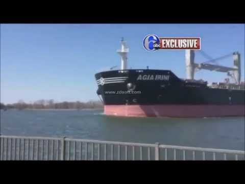 Bulk-carrier running aground in Burlington