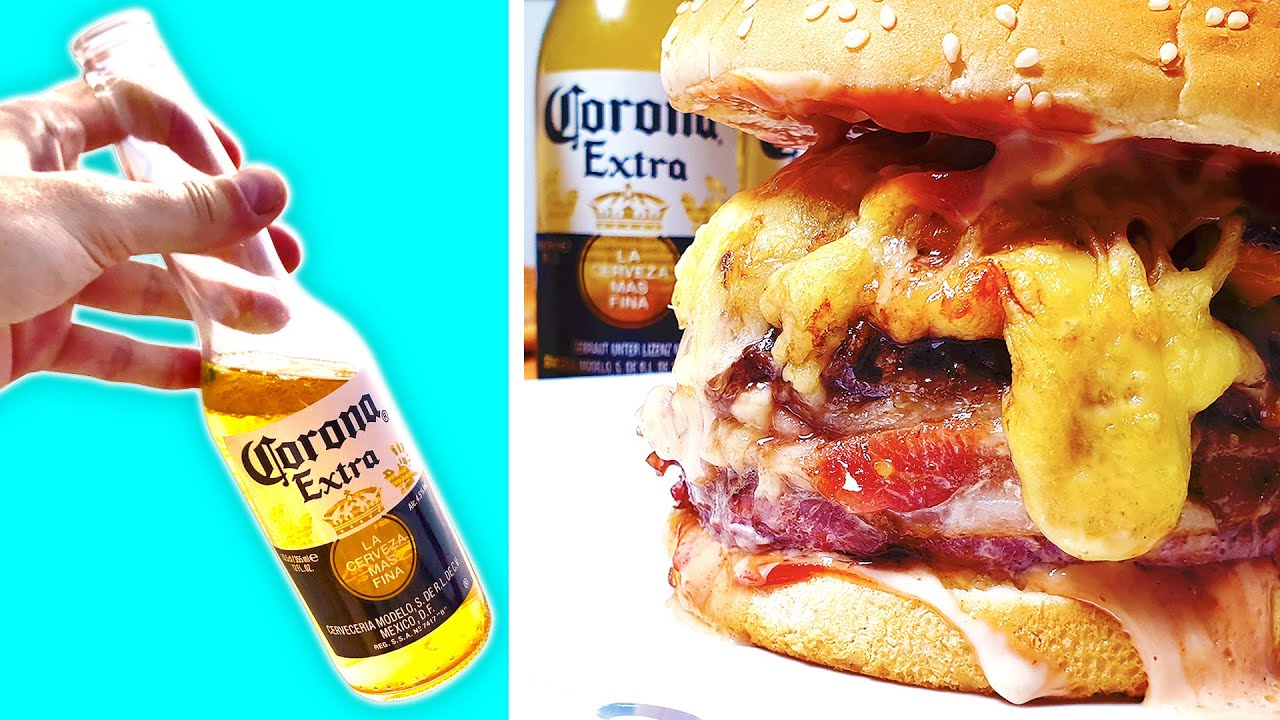How to Make CORONA BURGER with Bacon and Cheese