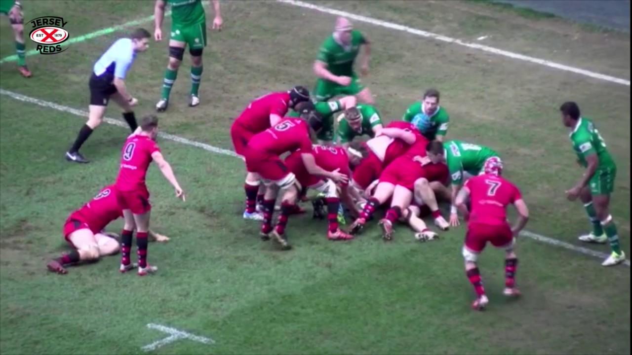 a197e596914 Jersey Reds 25 v 17 London Irish - YouTube