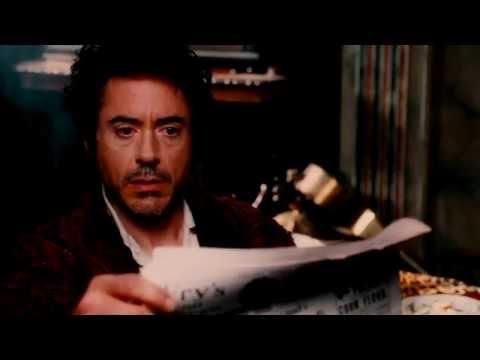 Sherlock Holmes movie (First scene after the opening)-Watson storms Sherlock's apartmenttt