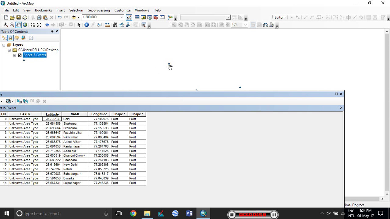 0a5710e2970 ESRI ArcGIS Importing XY data from Excel to ArcGIS - YouTube