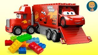Gertit Build LEGO Juniors Cars 3 Lightning McQueen Mac Truck and Speed Launcher Toy Set thumbnail