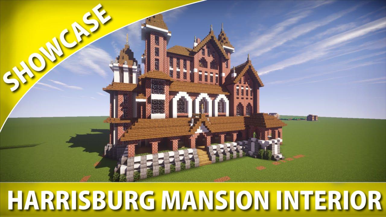 Minecraft Showcase Harrisburg Mansion Interior Youtube