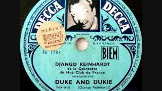 Hubert Rostaing & Django Reinhardt - Duke And Dukie, Take 1 -  Brussels 21 May 1947