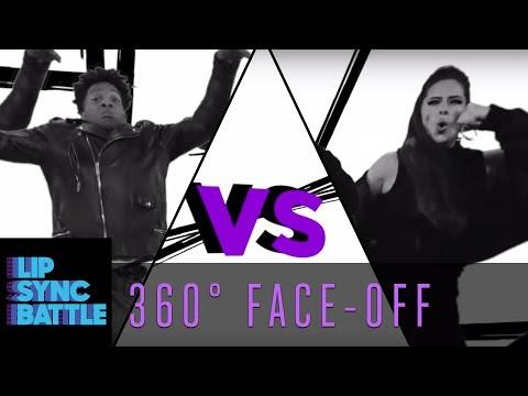 Ashley Graham vs. Jermaine Fowler: 360° Face-Off | Lip Sync Battle