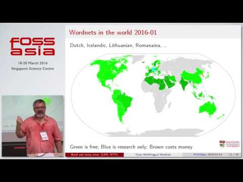 Linking the word's languages in the Open Multilingual Wordnet - Francis Bond - FOSSASIA Summit 2016