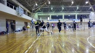 2018 11/11 ソフトバレーボール新宮信用金庫杯 予選第2試合 チーム NEX...