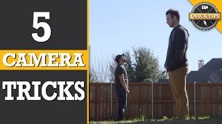 Quick Tips: 5 Easy Camera Tricks!(Today, we show 5 easy but awesome camera tricks! Like, Favorite and SHARE today's episode! http://youtu.be/I-rGQVFyjTs Subscribe for more Film Riot!, 2015-01-27T18:01:00.000Z)