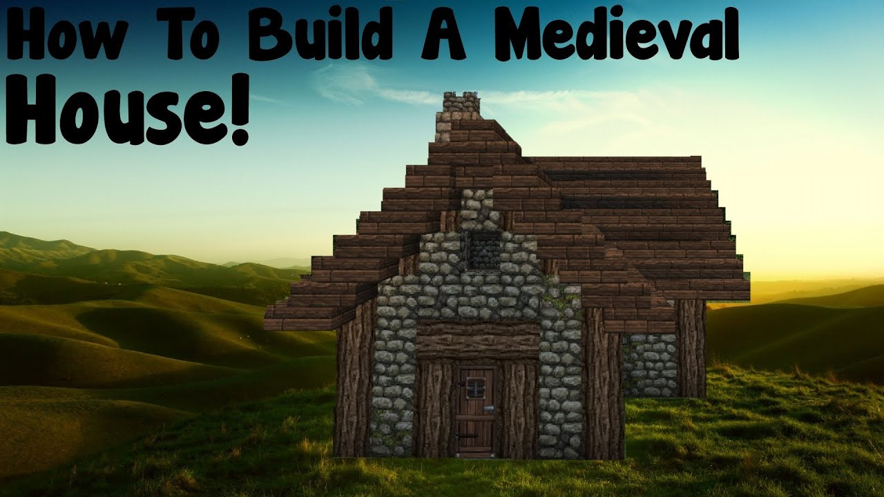 Minecraft tutorial how to build a medieval small house for Classic house tutorial