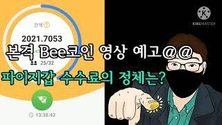 본격Bee코인홍보 시작! 파이코인지갑 수수료가?!