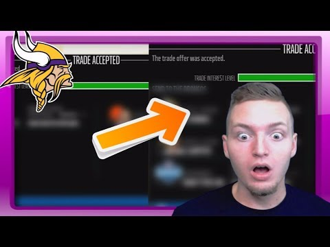 MASSIVE THREE WAY TRADE SHAKES UP THE NFL! - Madden 18 Vikings Connected Franchise #6