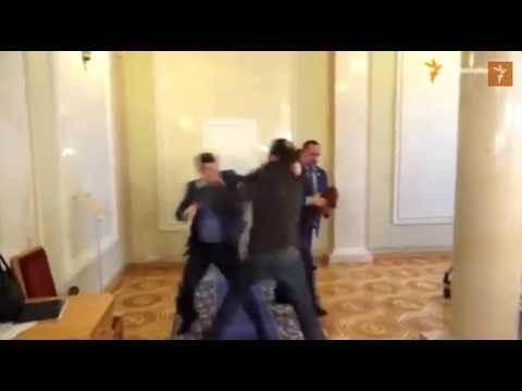 ukrainian politicians scuffle