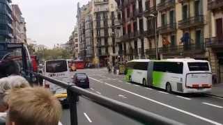 اجمل شوارع مدينة برشلونه الاسبانية 2016 Barcelona City Tour