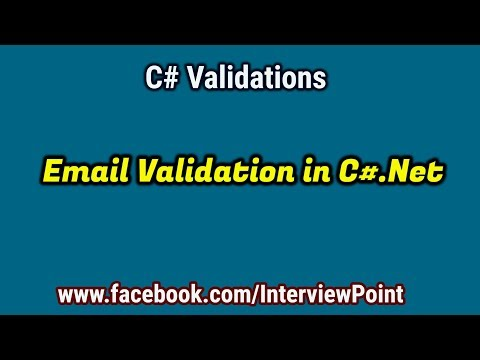 Email Validation In C#.Net | C# Validations Part-4
