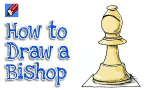 How to Draw a Chess Bishop Real Easy for Kids & Beginners