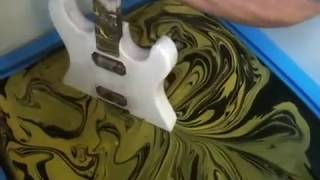 SWIRLING(Yellow & Black Custom Guitar) thumbnail