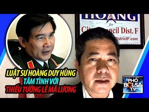 Ls Hoàng Duy Hùng từ Mỹ tâm tình với Thiếu tướng QĐNDVN Lê Mã Lương