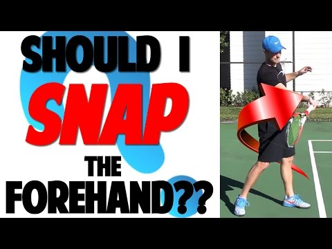 Tennis Forehand Technique: Why Not to SNAP??? (Top Speed Tennis)
