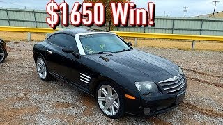 Copart $1650 Win! 2004 Chrysler Crossfire 3.2L! Run and Drive? (Mercedes 320)
