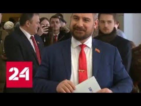 Сурайкин и Кадыров пришли голосовать с мамами - Россия 24
