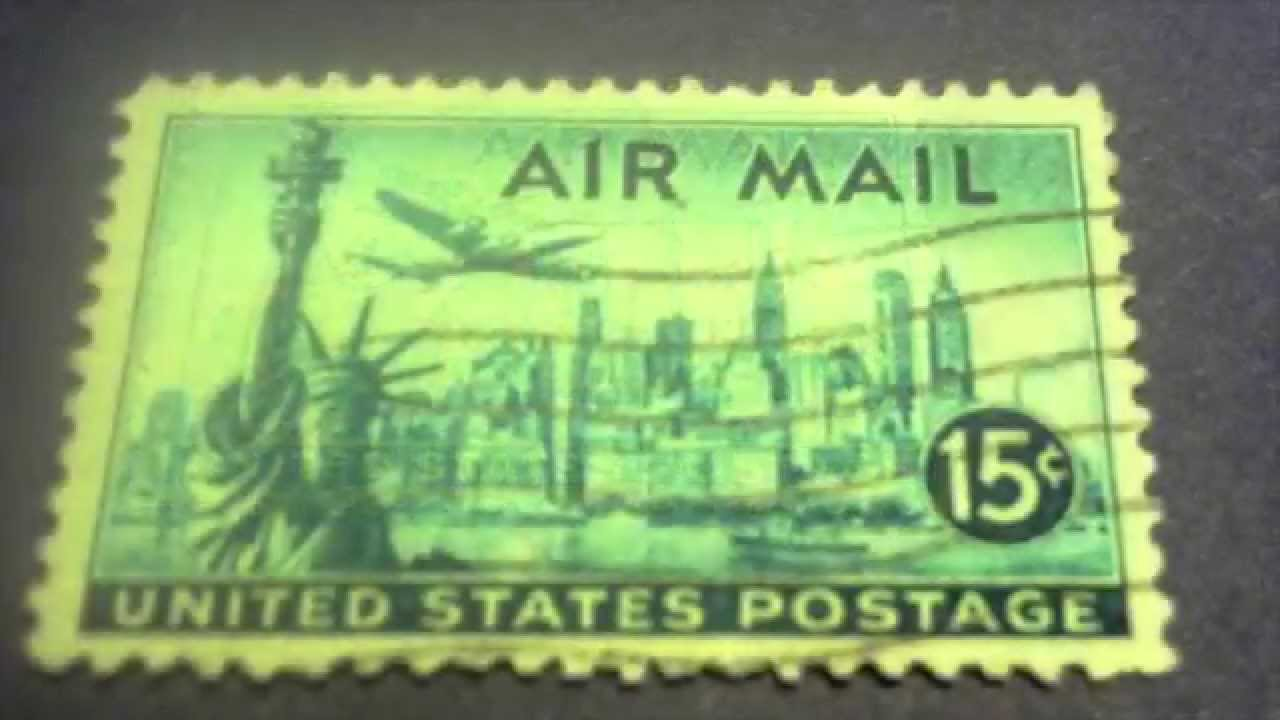 Statue Of Liberty United States Postage Air Mail Stamp 15 Cents