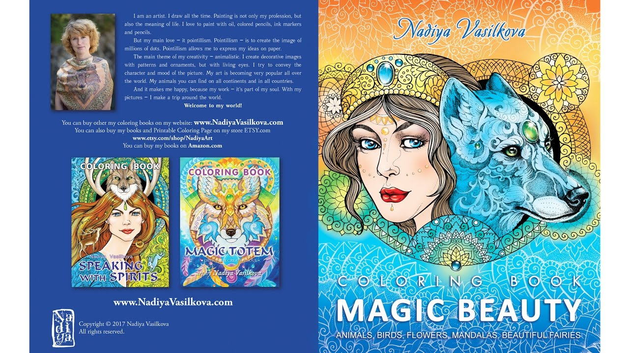 Magic beauty coloring book for adults animals mandalas Coloring books for adults youtube