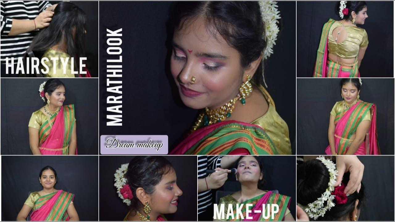 Traditional ganesh Chaturthi look 2020 | makeup look ...