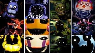 Todos los JUMPSCARES - FNAF 1-4 & Five Nights at Freddy